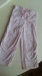 Штаны брюки розовые утепленные Next для девочки 3-4 года, 104 см нежно роз