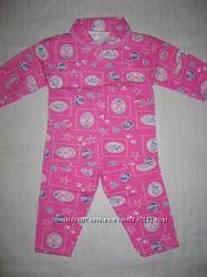 Пижама c начесом для девочки 1, 2 года