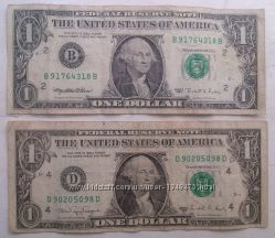 1 доллар США, 1988, 1995 года