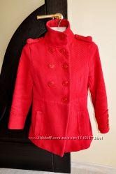 Пальто темно красное с капюшоном осень-весна