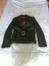 Куртка-пиджак из кожи демисезонная