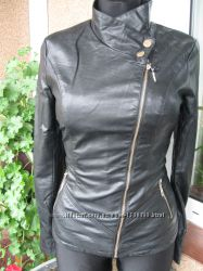 Распродажа. Куртка кожзам черного матового цвета. p. M, 2XL