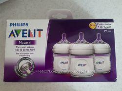 Продам набор бутылочек 3 шт Philips Avent Natural