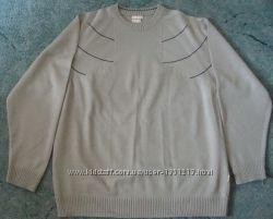 Замечательный мужской джемпер пуловер оливкового цвета