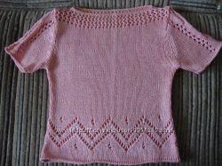 Очень красивая футболка розового цвета