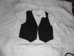 Продам 2ку рубашка и жилетка 2-3г