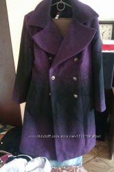 новое пальто ткань букле, эффект градиента р48-50