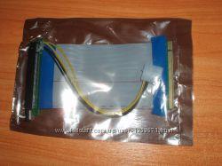 Райзер PCI-E 16x гибкий шлейф с питанием Molex 16х-х16 flex майнинг битк