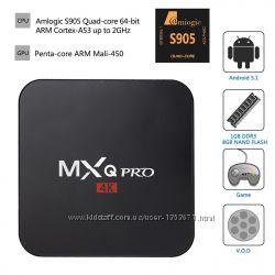 MXQ Pro Amlogic S905 TV Box ТВ приставка беспроводная Андроид SmartTV 2. 0GH