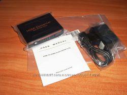 Конвертер HDMI 1. 4 3D вход - выходы HDMI отдельный звук Toslink SPDIF Audi