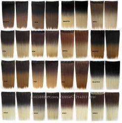 Волосы для наращивания на клипсах омбре