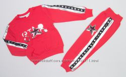 Теплый спортивный костюм для девочки с паетками