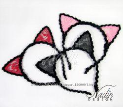Ободки ручной работы Кошачьи ушки