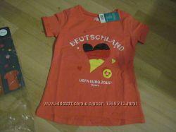 Недорого Новая футболка на девочку Германия, р. 110-116