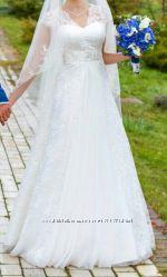Шикарное,  нежное свадебное платье