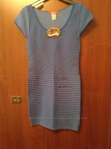 Новое синее платье стрейч Susen размер S-M