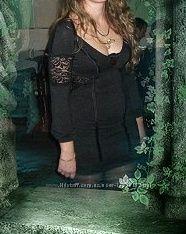 платье со вставками гипюра