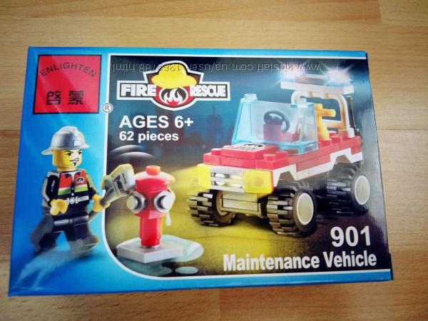 Конструктор Лего аналог пожарная машина 62 дет