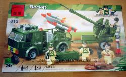 Конструктор Лего аналог ракета 242 детали, зенитный комплекс