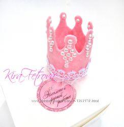 Корона из фетра, блестящая корона, корона на повязке, повязка, заколка