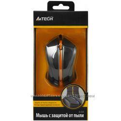 A4 Tech оптическая D310-3 Holeless, black-orange