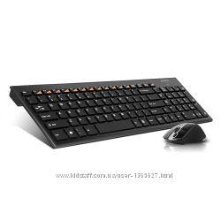 Комлект клавиатура и мышь A-4 Tech беспроводной 9500H, Holeless, USB