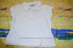 Белая футболка поло Next для девочки 3 г. 98см