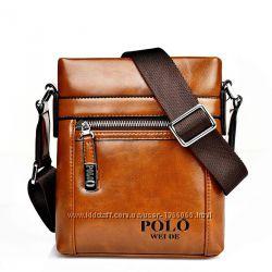 Мужская сумка - планшет Polo Ding. Качественная, Наплечная, 2 цвета