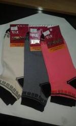 Носки женские Талько , житомирские, хлопковые орнамент с чёрной пяткой и
