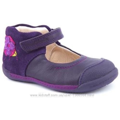 Балетки Clarks Softly Rose Fst Purple Leather Shoes
