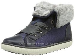 Шкіряні черевики для дівчаток Clarks Dark Navy Blue Boots ZORA DRESS