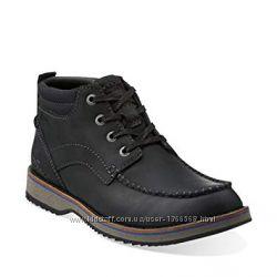 Шкіряні черевики Clarks Mahale Mid Black