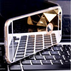 Зеркальные силиконовые чехлы на Айфоны 5, 5s, 6, 6s и 6, 6s plus