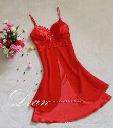 Красный пеньюар - сорочка