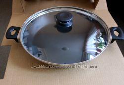 Сковорда с металокерамическим покрытием d-30 см для всех видов нагрева