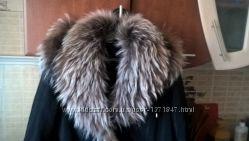 Осенне Зимнее Пальто Чернобурка Натуральная р50 торг