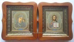 Пара икон. Венчальные иконы. Киот. Украина.