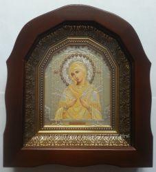 Икона Богородица Семистрельная. Киот. Украина.