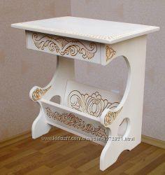 Авторская мебель из дерева с художественной резьбой