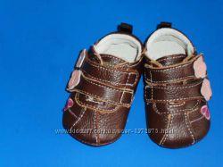 кожаные туфельки- пинетки