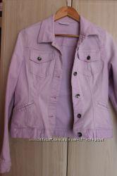 Джинсовий розовий піджак C&A