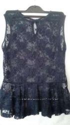 Новая нарядная блуза с баской размер 44