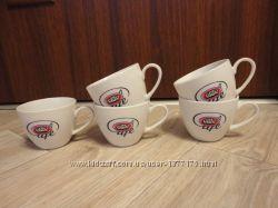 Продам 5 чашек для кофе cafe elite
