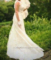 Шикарное свадебное платье, в подарок свадебные аксессуары