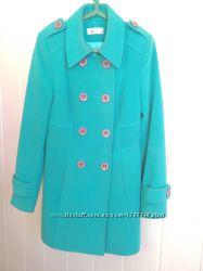 Пальто бирюзовое