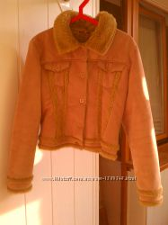Демисезонная дубленка-куртка