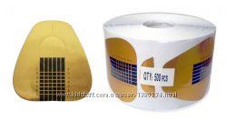 Форма для наращивания ногтей золото 500 шт