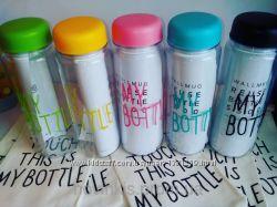 Цветные бутылочки My bottle с льняным мешочком. RIVERS