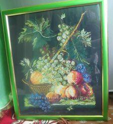 Картина вишита крестиком Корзина с фруктами