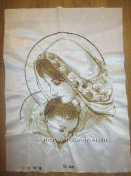 Картина вишита бисером Мадонна с младенцем